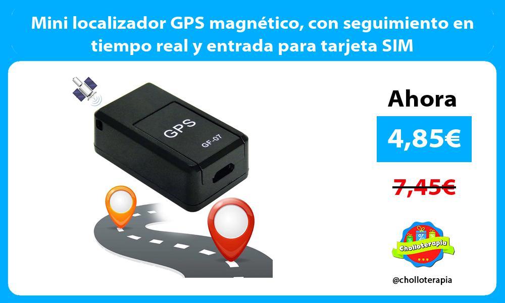Mini localizador GPS magnético con seguimiento en tiempo real y entrada para tarjeta SIM