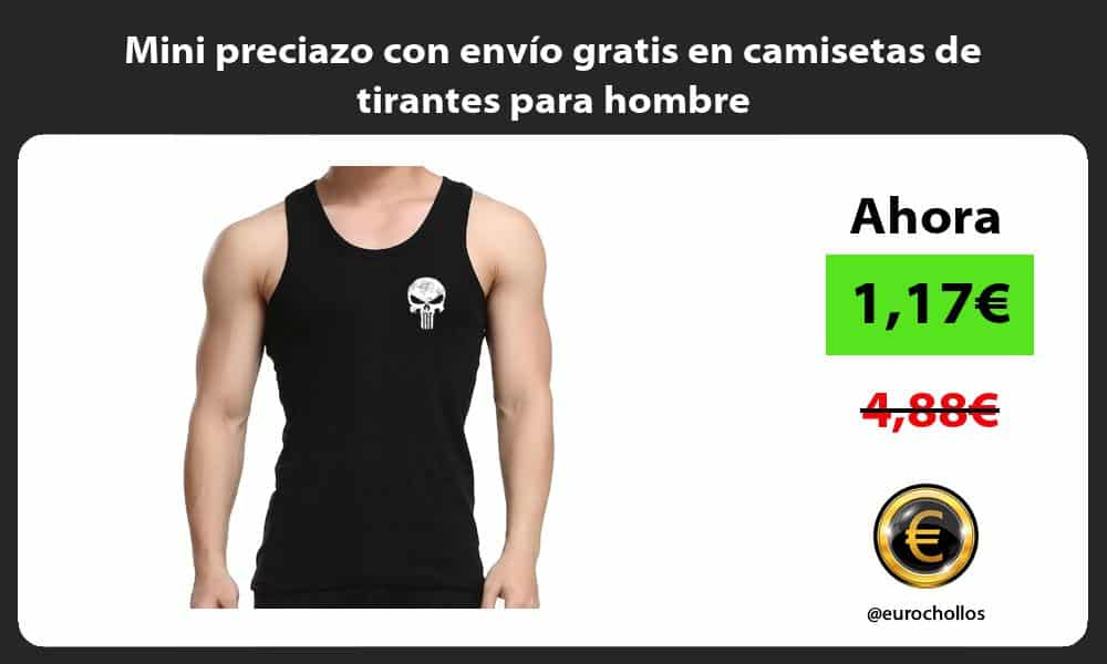 Mini preciazo con envío gratis en camisetas de tirantes para hombre