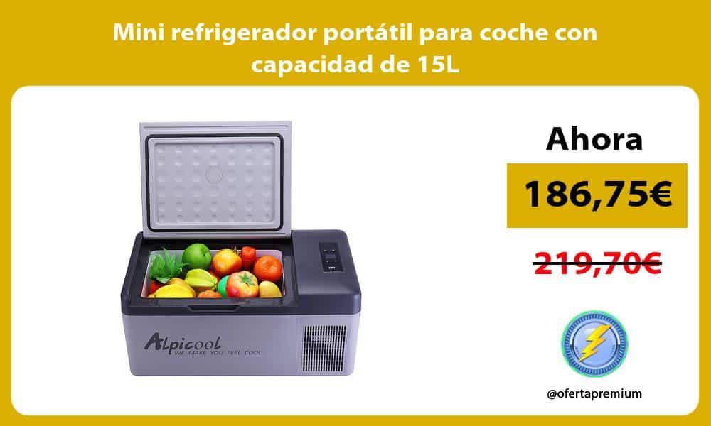 Mini refrigerador portátil para coche con capacidad de 15L