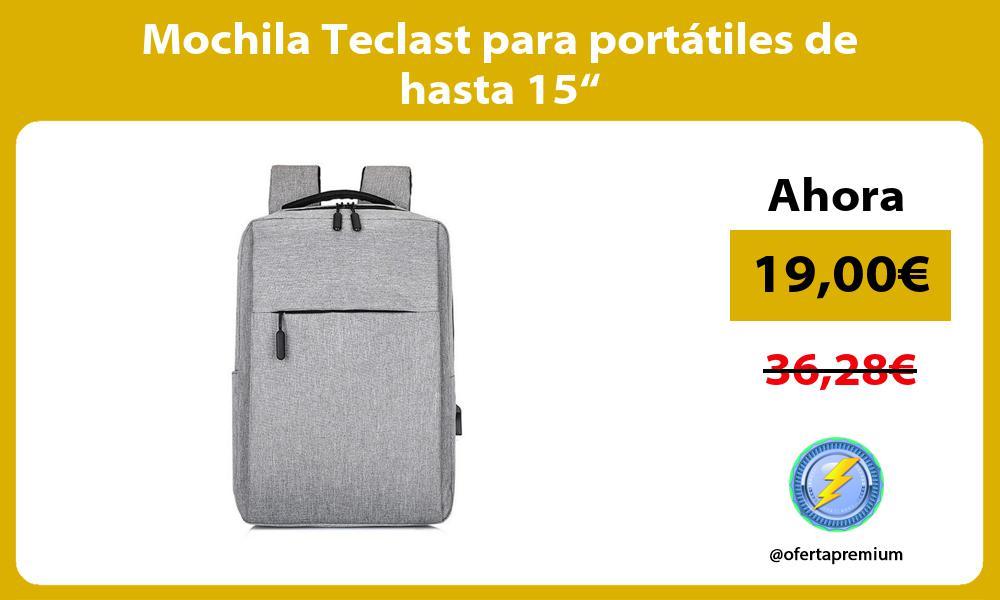 """Mochila Teclast para portátiles de hasta 15"""""""