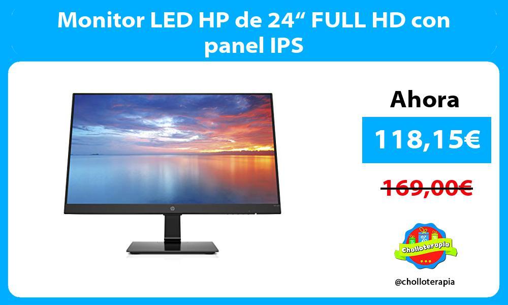 "Monitor LED HP de 24"" FULL HD con panel IPS"