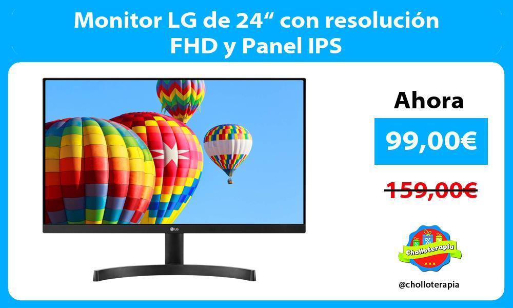 """Monitor LG de 24"""" con resolución FHD y Panel IPS"""