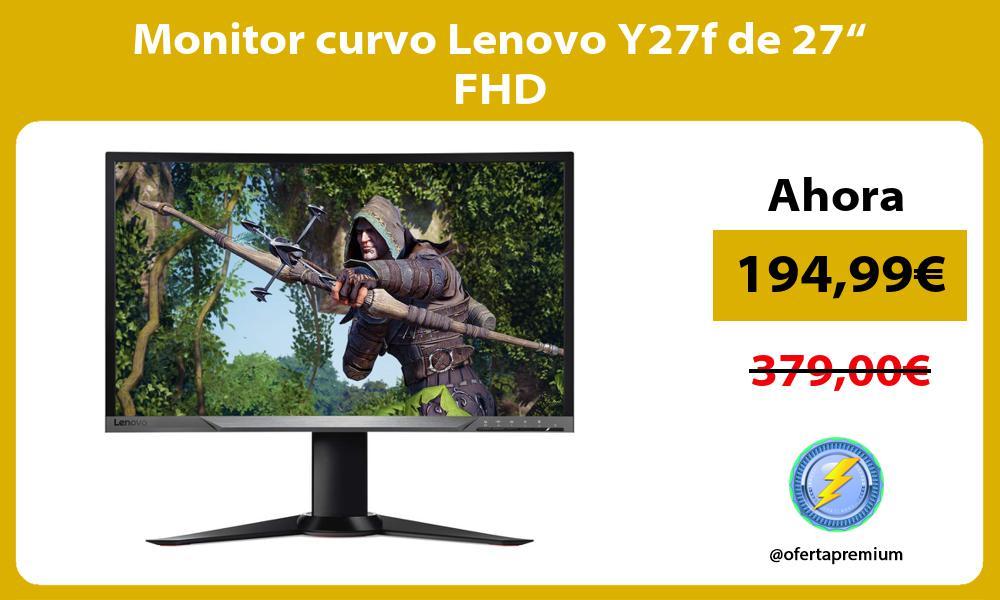 "Monitor curvo Lenovo Y27f de 27"" FHD"