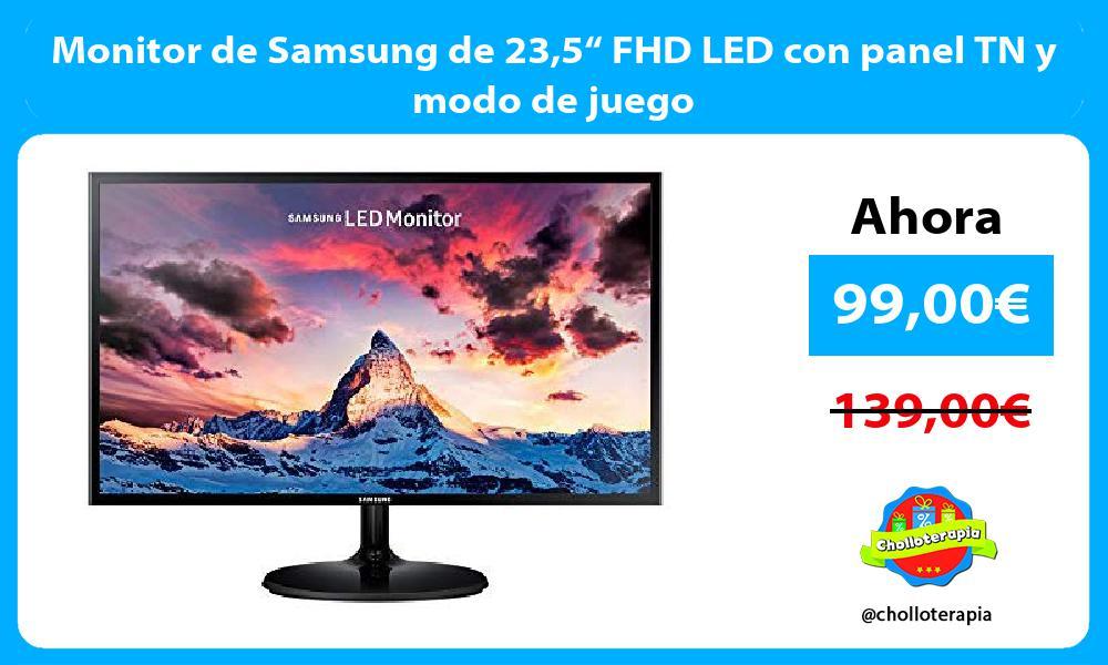 """Monitor de Samsung de 235"""" FHD LED con panel TN y modo de juego"""