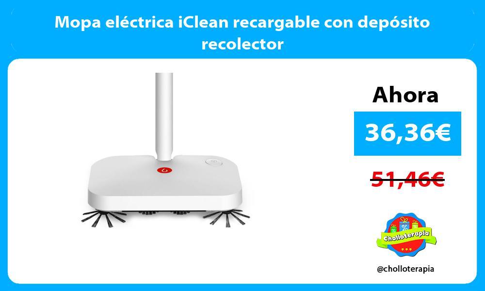 Mopa eléctrica iClean recargable con depósito recolector