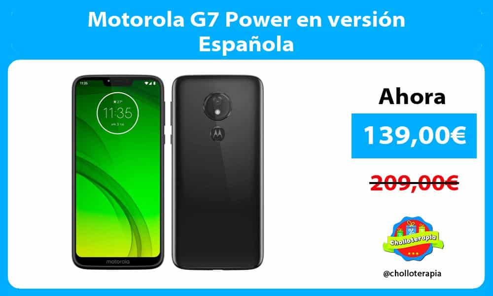 Motorola G7 Power en versión Española