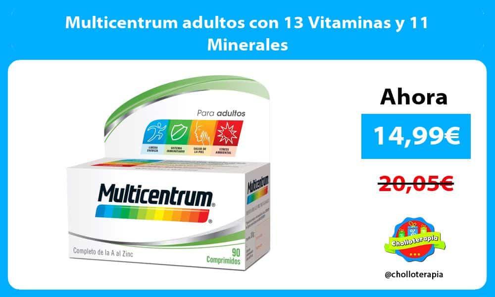 Multicentrum adultos con 13 Vitaminas y 11 Minerales