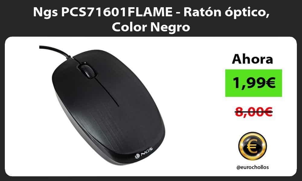 Ngs PCS71601FLAME Ratón óptico Color Negro