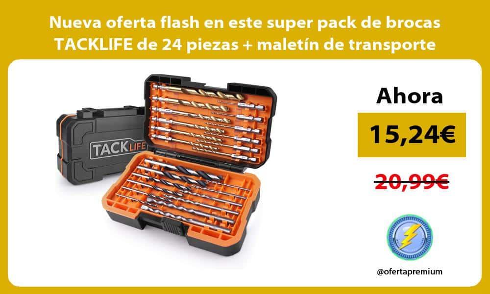 Nueva oferta flash en este super pack de brocas TACKLIFE de 24 piezas maletín de transporte