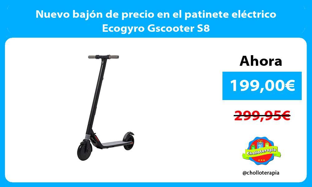 Nuevo bajón de precio en el patinete eléctrico Ecogyro Gscooter S8