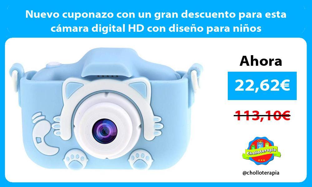 Nuevo cuponazo con un gran descuento para esta cámara digital HD con diseño para niños
