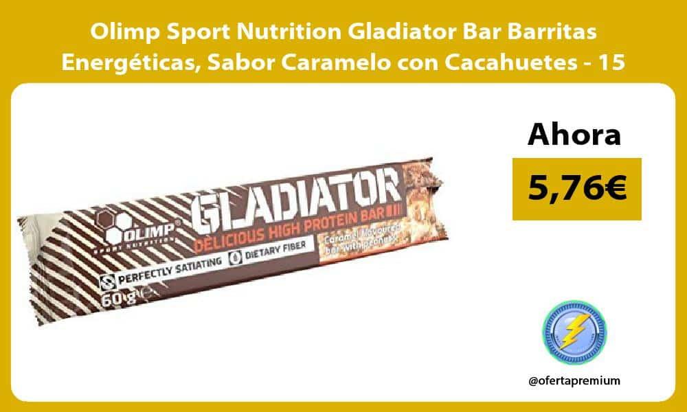 Olimp Sport Nutrition Gladiator Bar Barritas Energéticas Sabor Caramelo con Cacahuetes 15 Barras