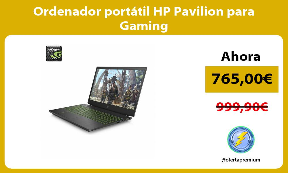 Ordenador portátil HP Pavilion para Gaming