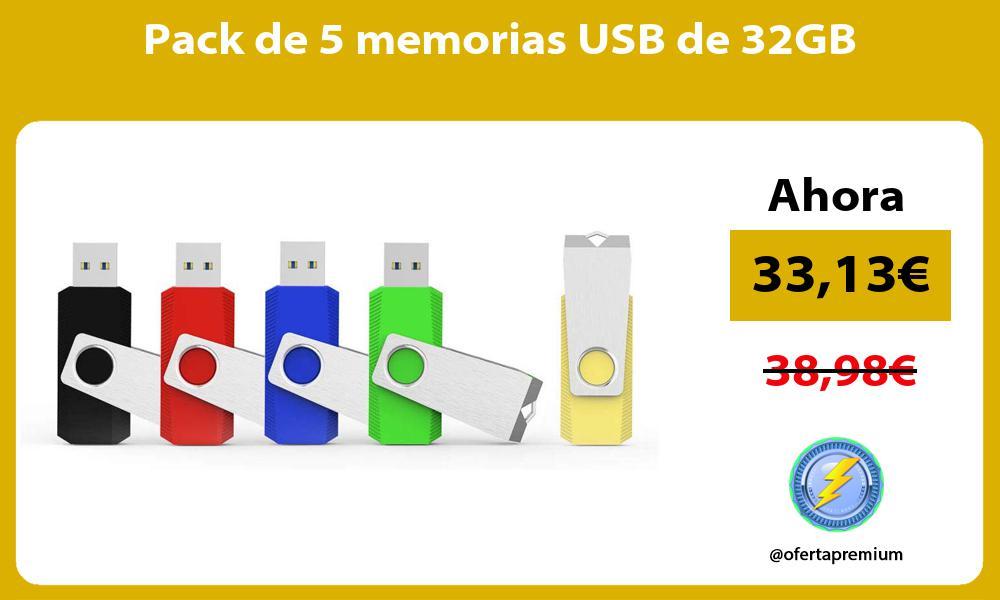 Pack de 5 memorias USB de 32GB