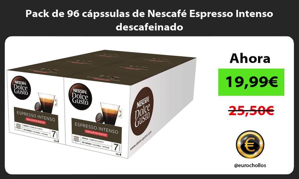 Pack de 96 cápssulas de Nescafé Espresso Intenso descafeinado