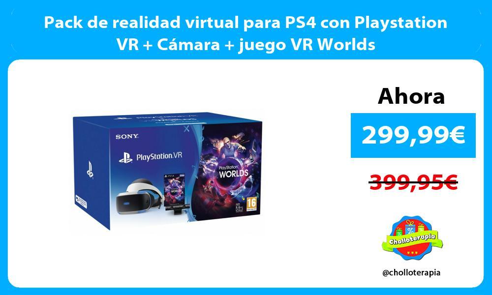 Pack de realidad virtual para PS4 con Playstation VR Cámara juego VR Worlds