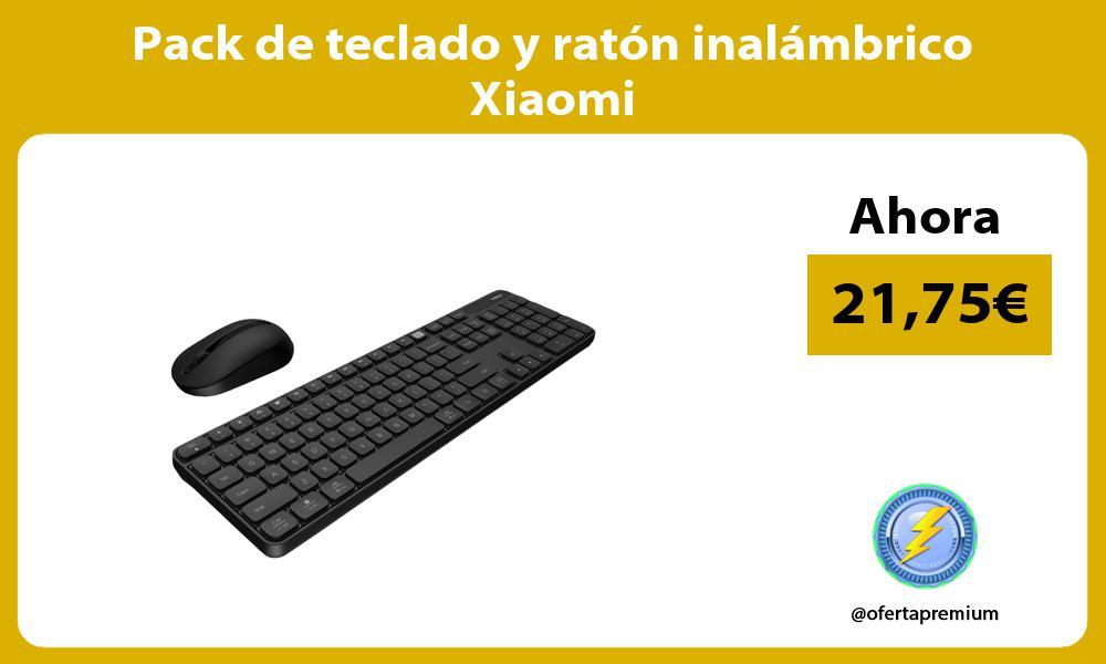 Pack de teclado y ratón inalámbrico Xiaomi