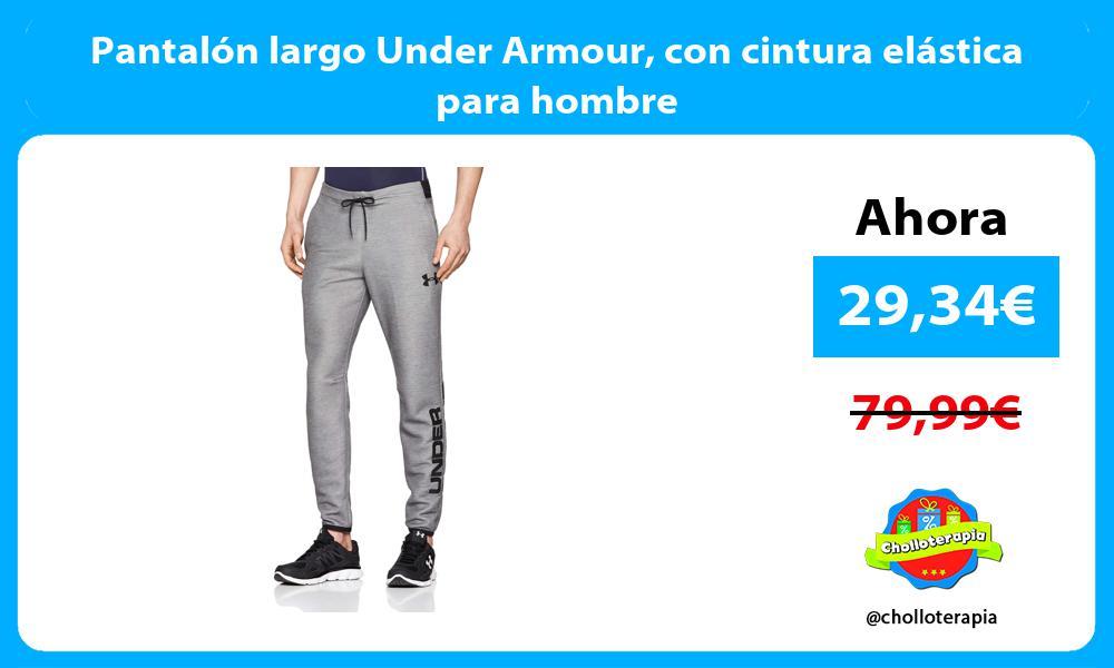 Pantalón largo Under Armour con cintura elástica para hombre