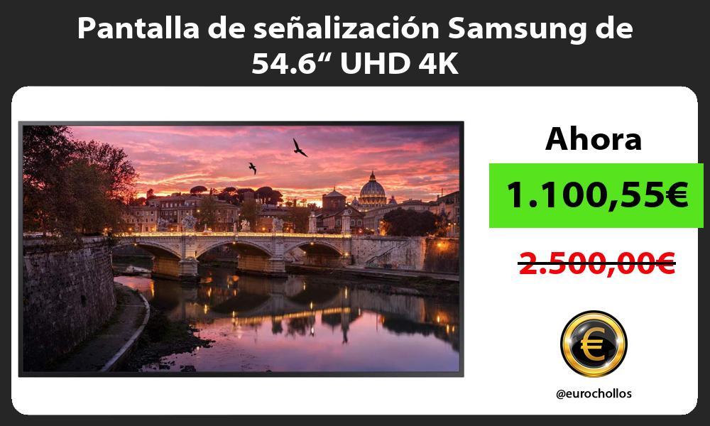 """Pantalla de señalización Samsung de 54.6"""" UHD 4K"""