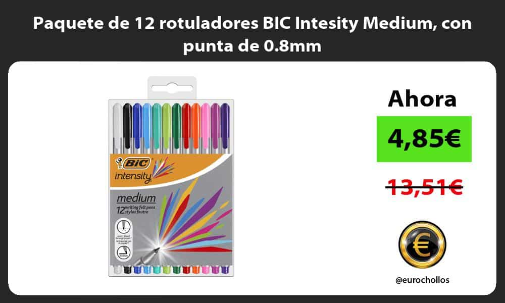 Paquete de 12 rotuladores BIC Intesity Medium con punta de 0.8mm