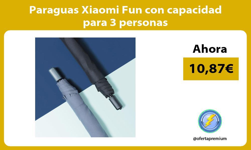 Paraguas Xiaomi Fun con capacidad para 3 personas