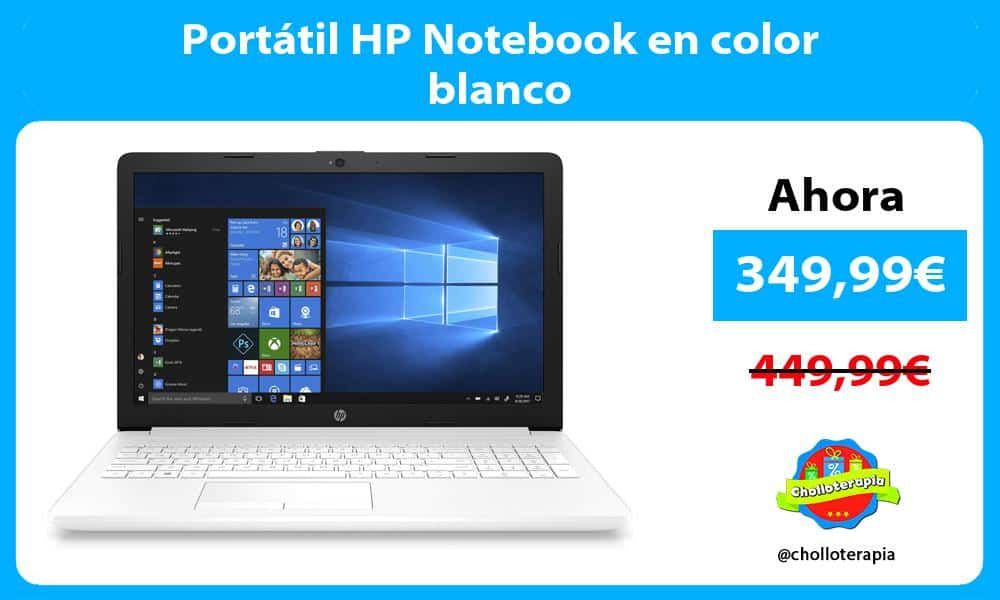 Portátil HP Notebook en color blanco