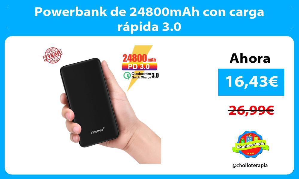 Powerbank de 24800mAh con carga rápida 3.0
