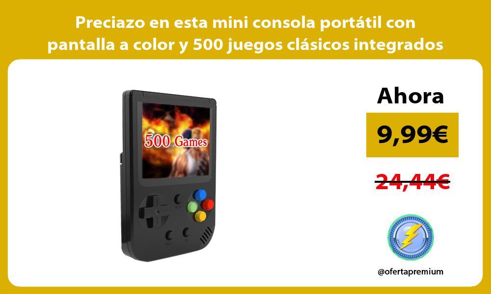 Preciazo en esta mini consola portátil con pantalla a color y 500 juegos clásicos integrados