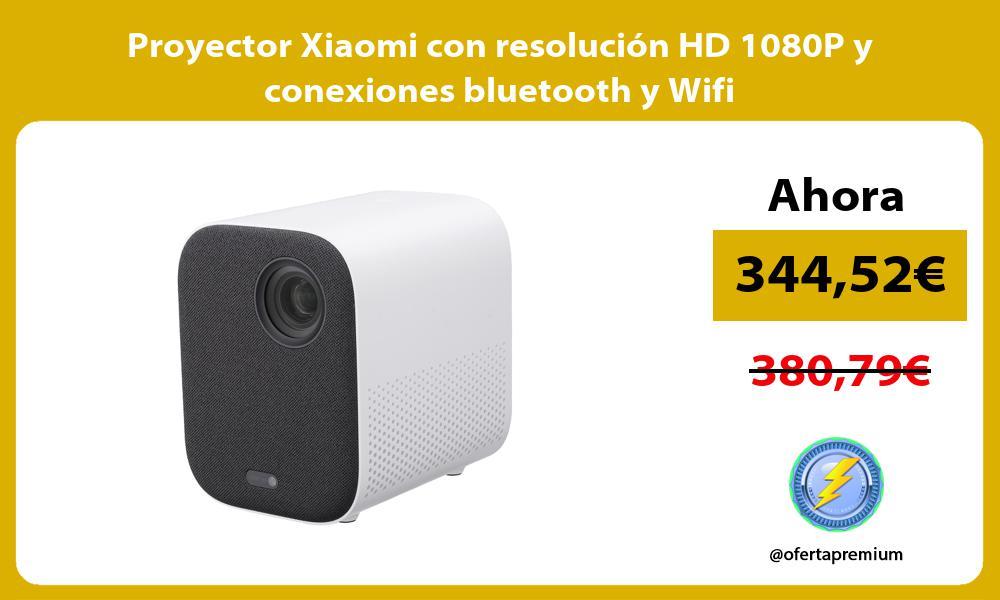 Proyector Xiaomi con resolución HD 1080P y conexiones bluetooth y Wifi
