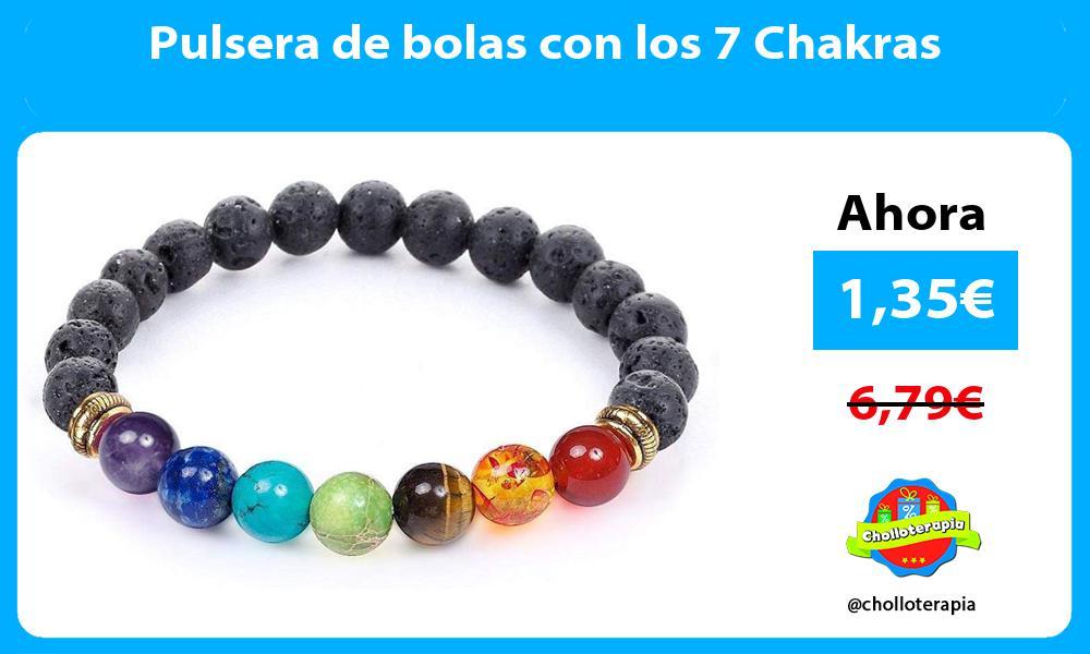 Pulsera de bolas con los 7 Chakras
