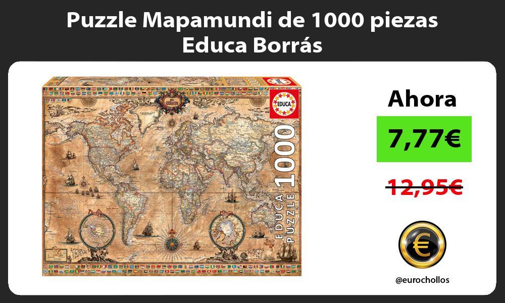 Puzzle Mapamundi de 1000 piezas Educa Borrás