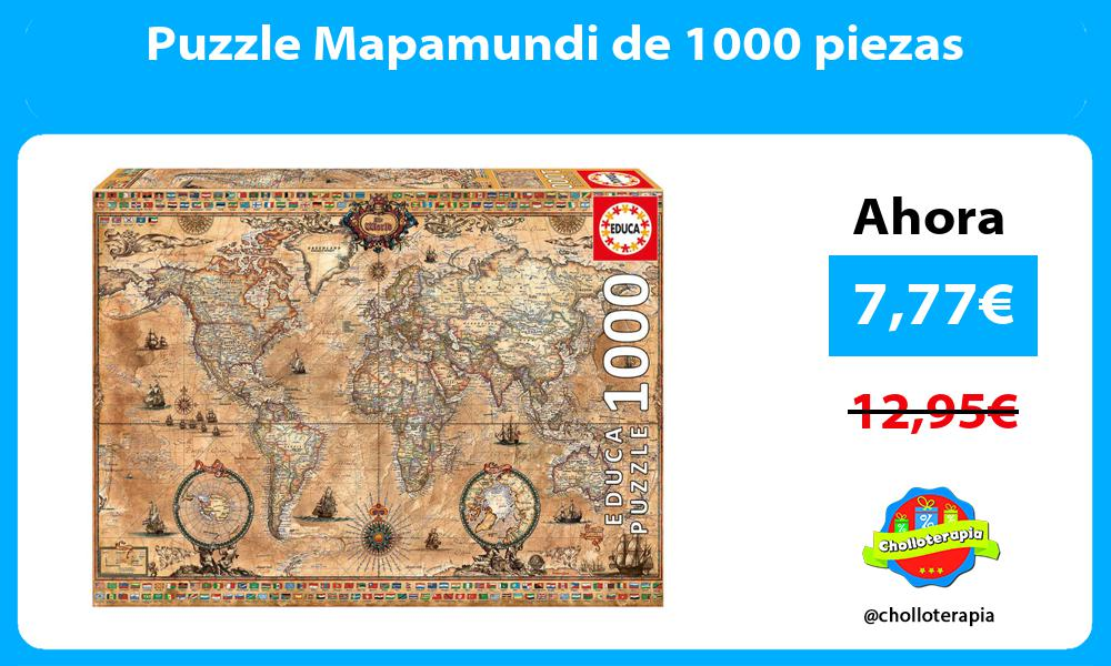 Puzzle Mapamundi de 1000 piezas
