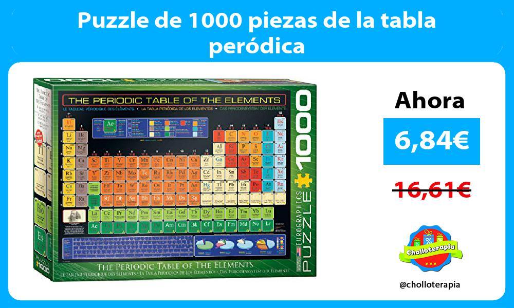 Puzzle de 1000 piezas de la tabla peródica