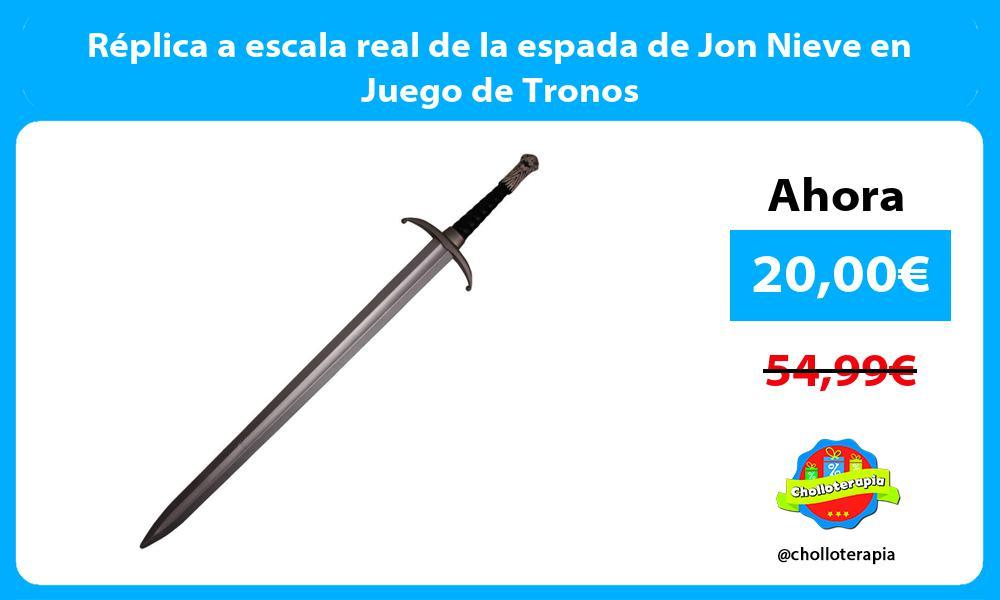 Réplica a escala real de la espada de Jon Nieve en Juego de Tronos
