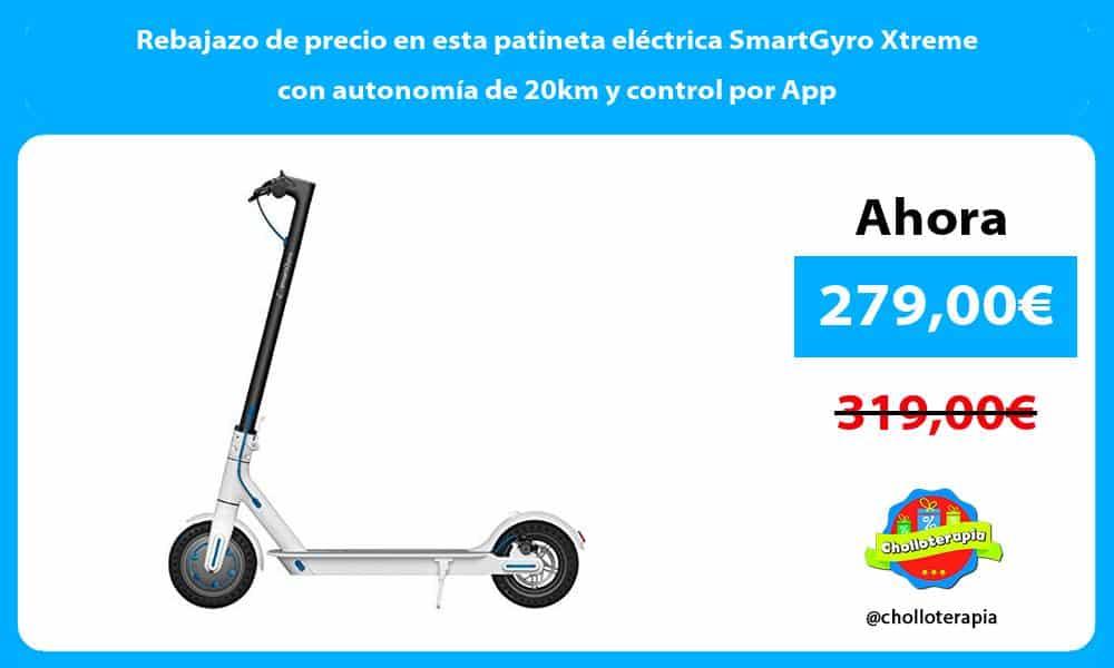 Rebajazo de precio en esta patineta eléctrica SmartGyro Xtreme con autonomía de 20km y control por App