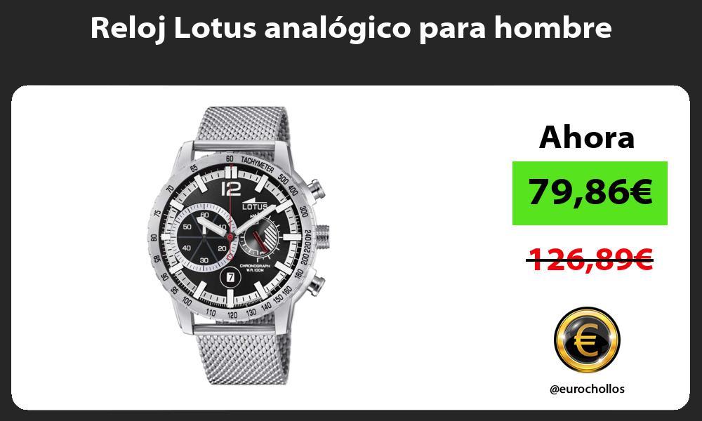 Reloj Lotus analógico para hombre