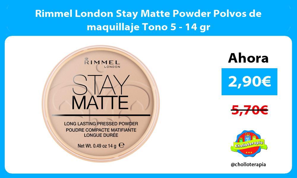 Rimmel London Stay Matte Powder Polvos de maquillaje Tono 5 14 gr