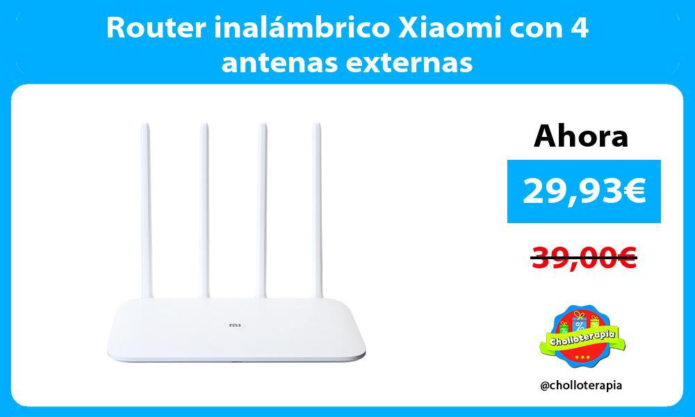 Router inalámbrico Xiaomi con 4 antenas externas