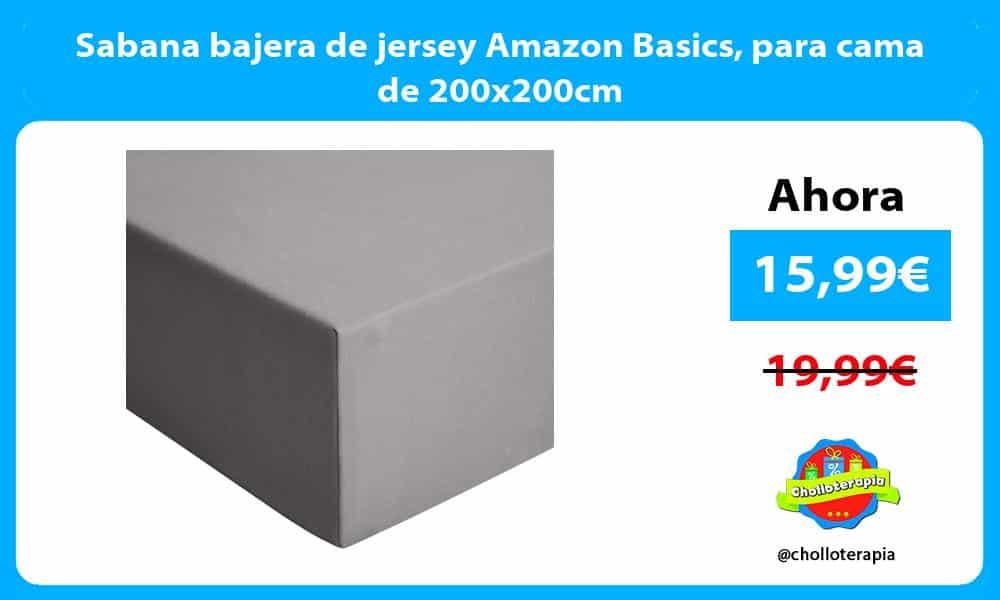 Sabana bajera de jersey Amazon Basics para cama de 200x200cm