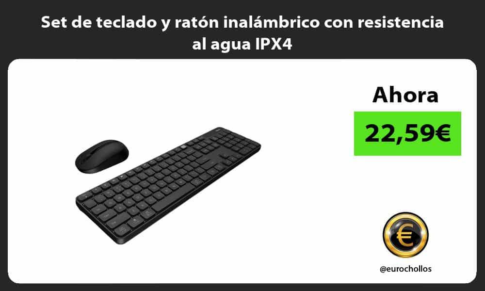 Set de teclado y ratón inalámbrico con resistencia al agua IPX4