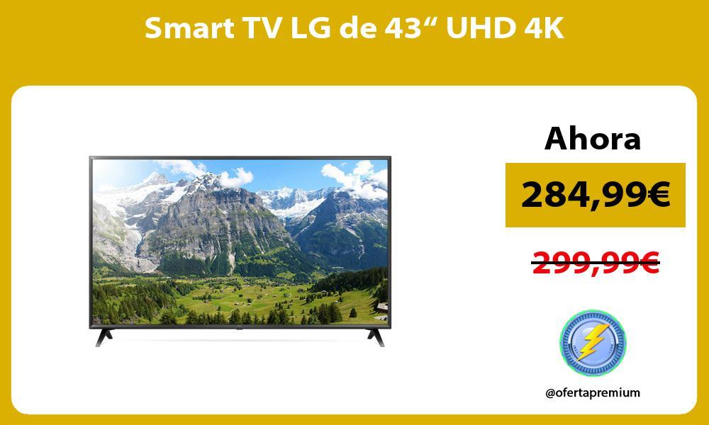 """Smart TV LG de 43"""" UHD 4K"""