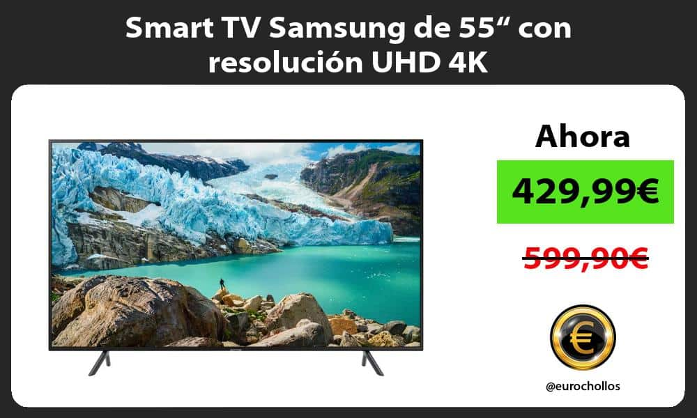 "Smart TV Samsung de 55"" con resolución UHD 4K"