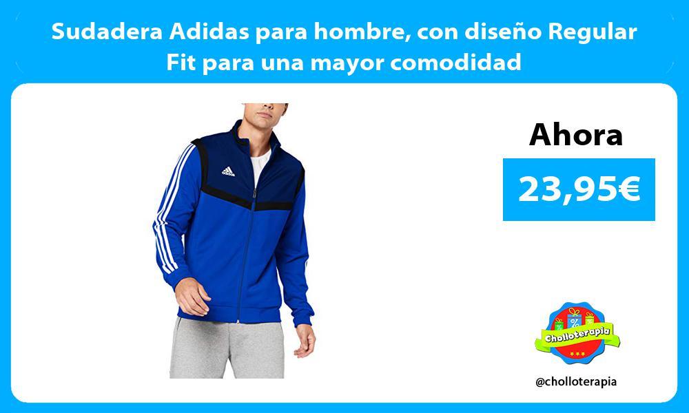 Sudadera Adidas para hombre con diseño Regular Fit para una mayor comodidad