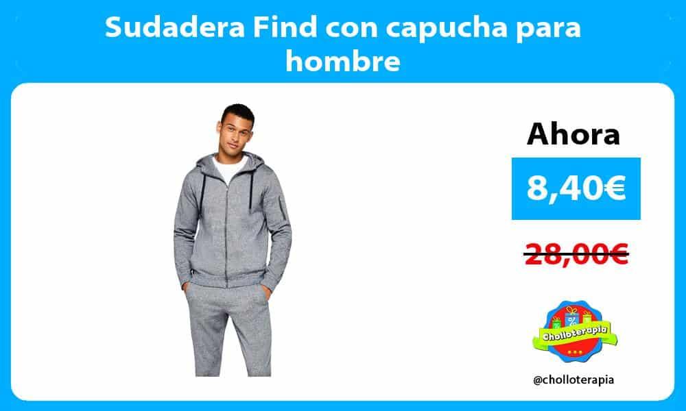 Sudadera Find con capucha para hombre