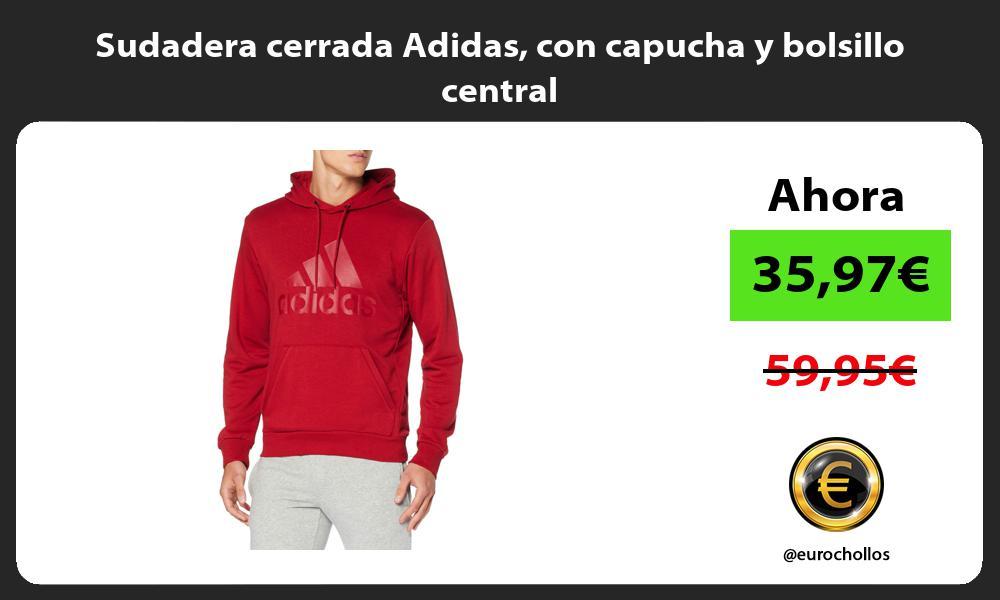 Sudadera cerrada Adidas con capucha y bolsillo central
