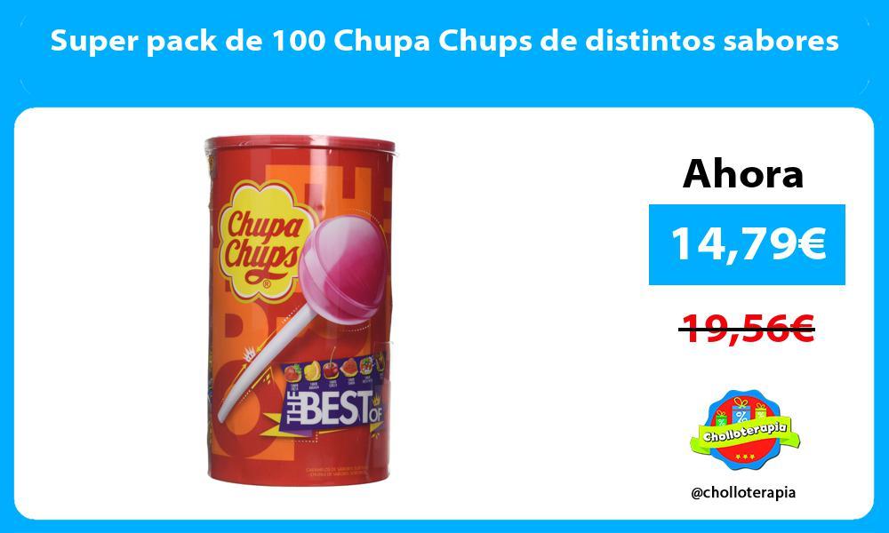 Super pack de 100 Chupa Chups de distintos sabores
