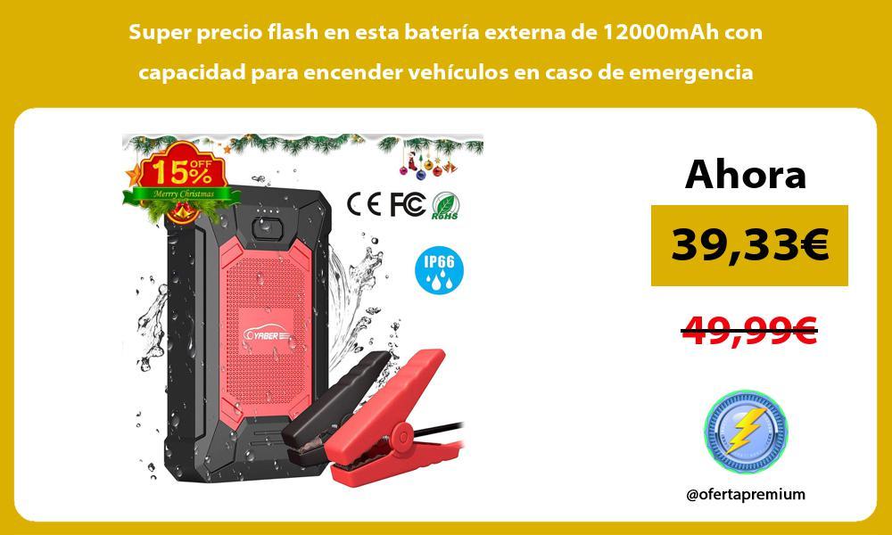 Super precio flash en esta batería externa de 12000mAh con capacidad para encender vehículos en caso de emergencia