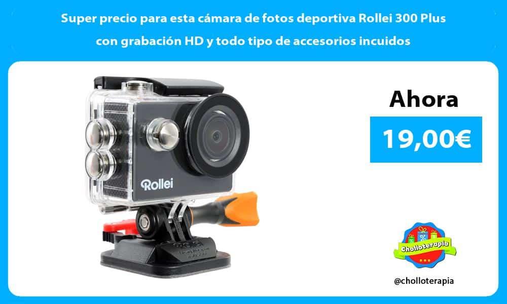 Super precio para esta cámara de fotos deportiva Rollei 300 Plus con grabación HD y todo tipo de accesorios incuidos