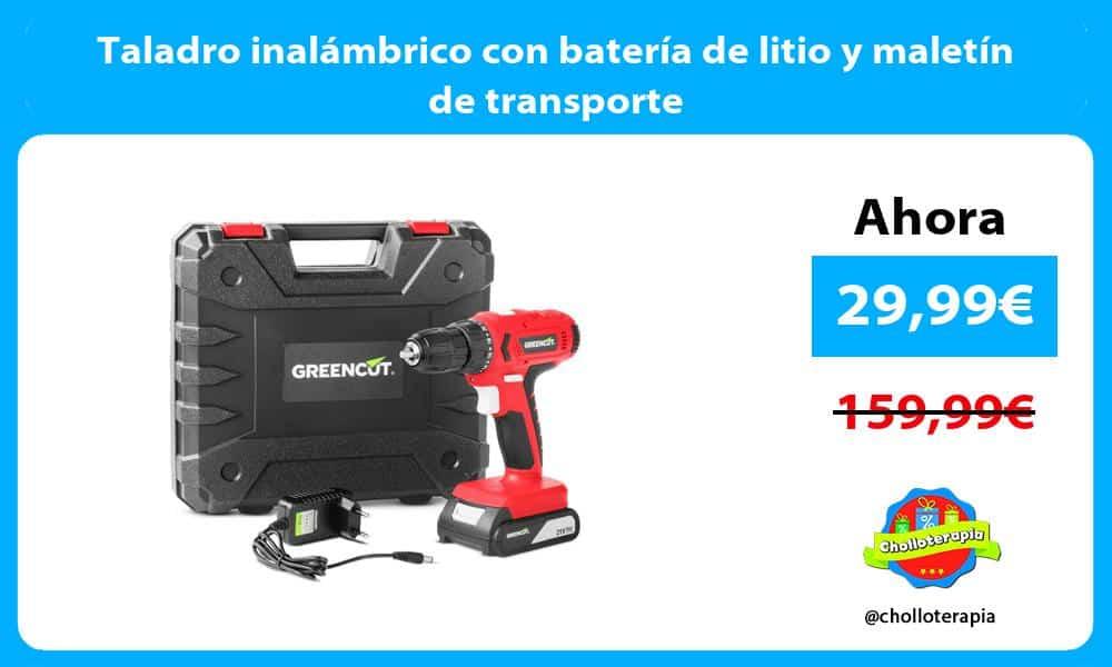 Taladro inalámbrico con batería de litio y maletín de transporte