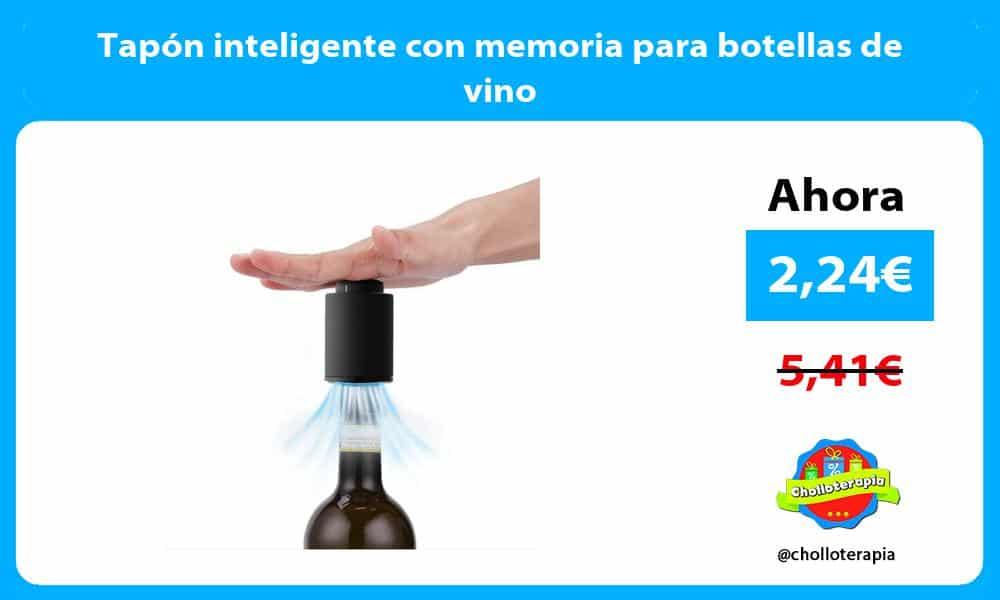 Tapón inteligente con memoria para botellas de vino